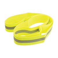Wheelchair Safety Wrap-Fluor Yellow-Silver Stripe