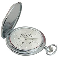 Mens Chrome Quartz Pocket Braille Watch