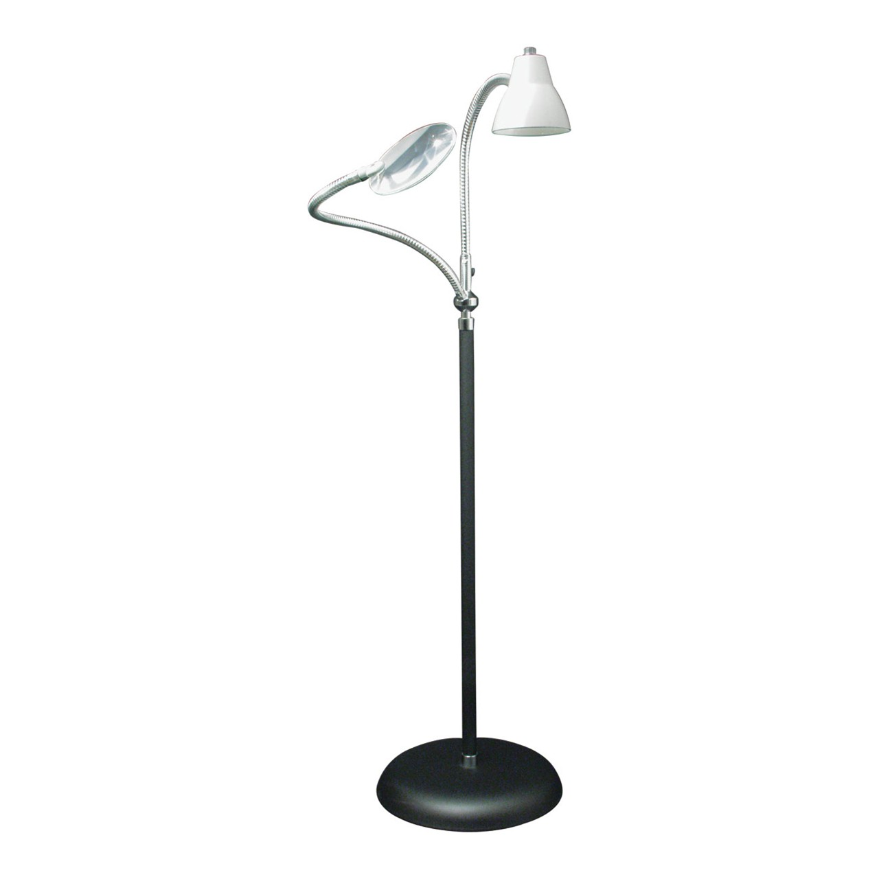Maxiaids 2 Arm Combination Floor Lamp And 2x Magnifier