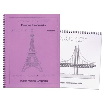 Famous Landmarks-Braille and Tactile 2-Book Set
