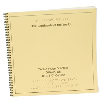 The Continents of the World-Braille and Tactile Book