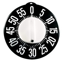 Tactile Low Vision Timer-Black Dial, White Numbers