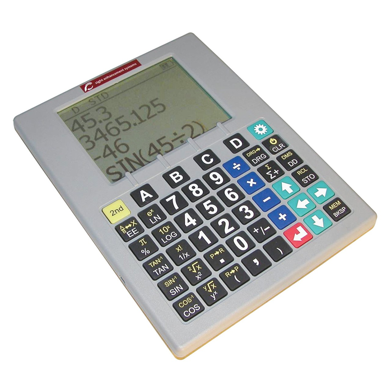 maxiaids gray low vision scientific calculator with speech output