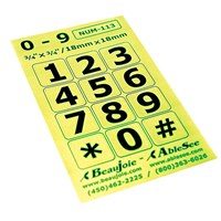 Picture of Telephone Stickers - Black on Green - Numbers Only