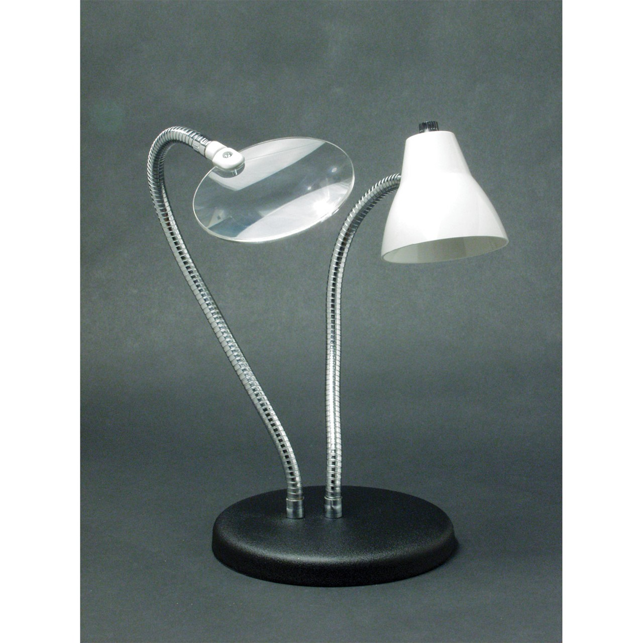 Maxiaids 2 Arm Combination Table Lamp And 2x Magnifier