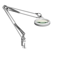 LFM LED Magnifier-45in Arm-5.0D 2.25x-Clamp-Grey