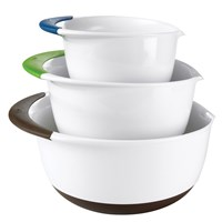3-Piece Mixing Bowl Set with Pour Spouts