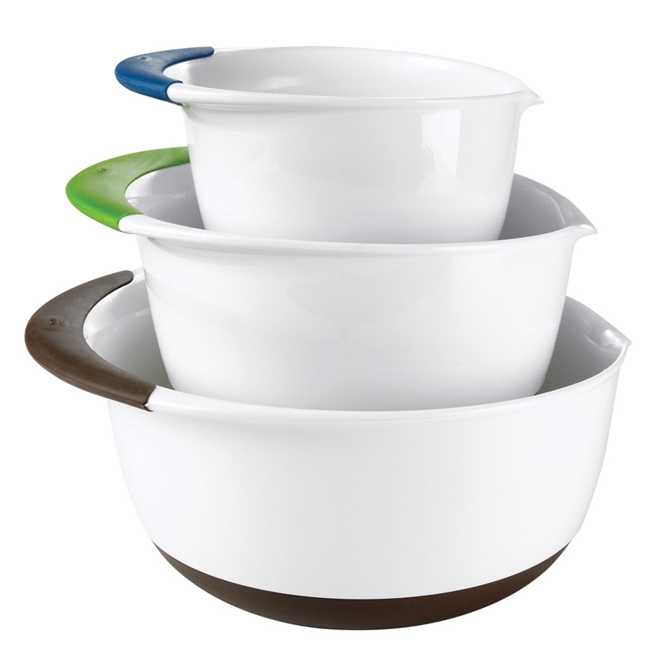 3 Piece Mixing Bowl Set With Pour Spouts