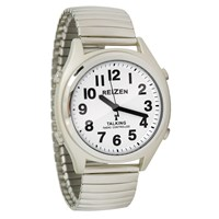 Picture of Reizen Talking Atomic Watch-Wht Face-Blk Num-Exp