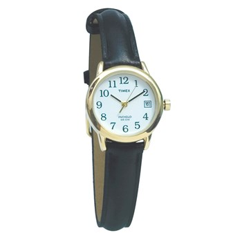 Timex Indiglo Watch Ladies Gold-Tone with Leather Band
