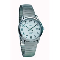Timex Indiglo Watch Mens Chrome with Expansion Band