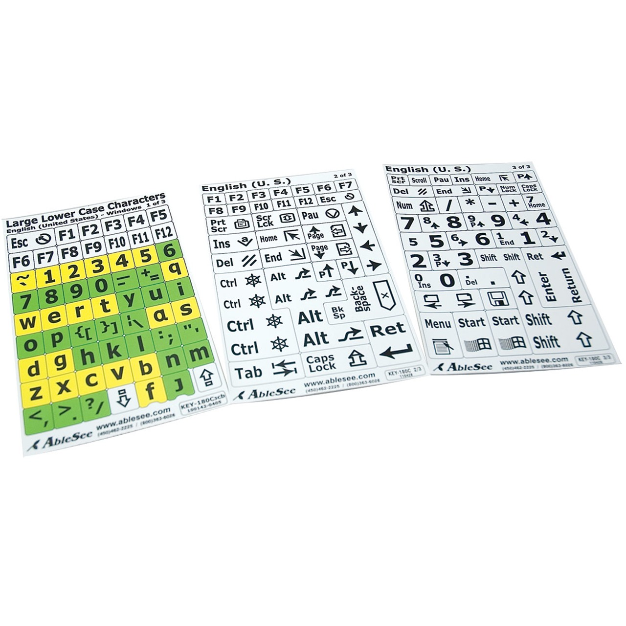 Keyboard Overlays and Stickers   Low Vision Keyboard