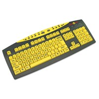 Keys-U-See Large Print Keyboard-Yellow w-Blk Print