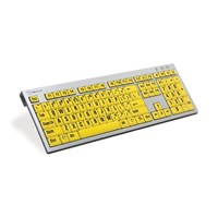 Large Print Keyboard for PC- Blk Print-Yellow Keys
