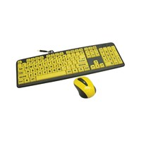 Large Print Wired Keyboard and Wireless Mouse Set
