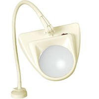 Dazor 3-Diopter Almond Clamping Magnifier Lamp with Flex-Arm