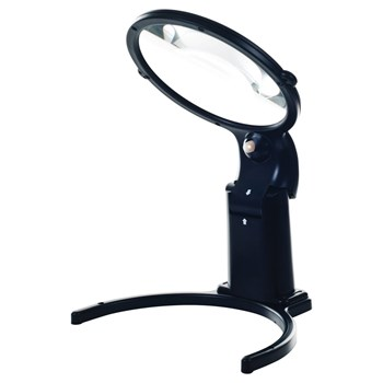 Illuminated 5-in Diameter Hands Free 2x Magnifier