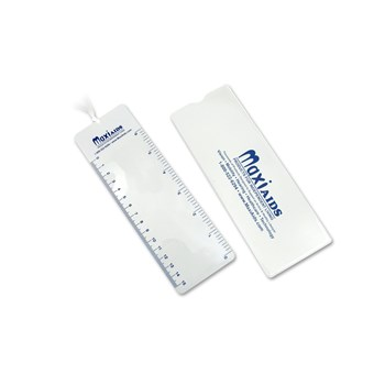 MaxiAids 2X Lens Magnifier 6-inch Ruler Bookmark