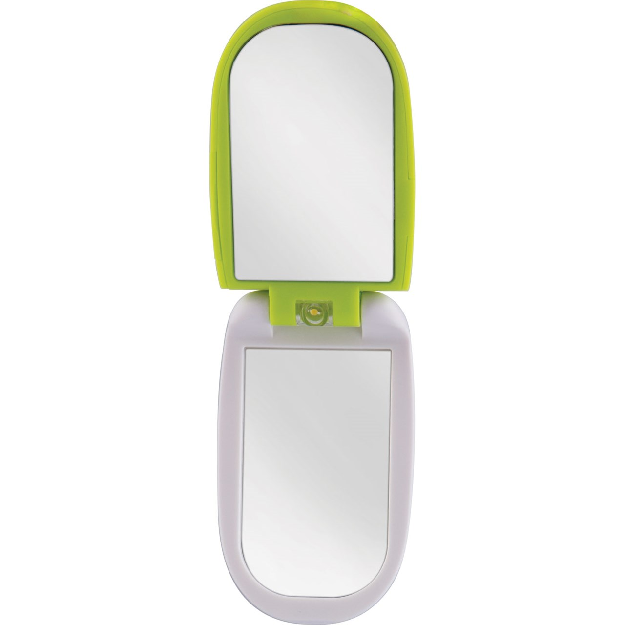 Maxiaids Led Lighted Compact Mirror With Lcd Clock 3x 1x