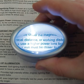 LED Lighted Oval Dome Magnifier - 6.5x