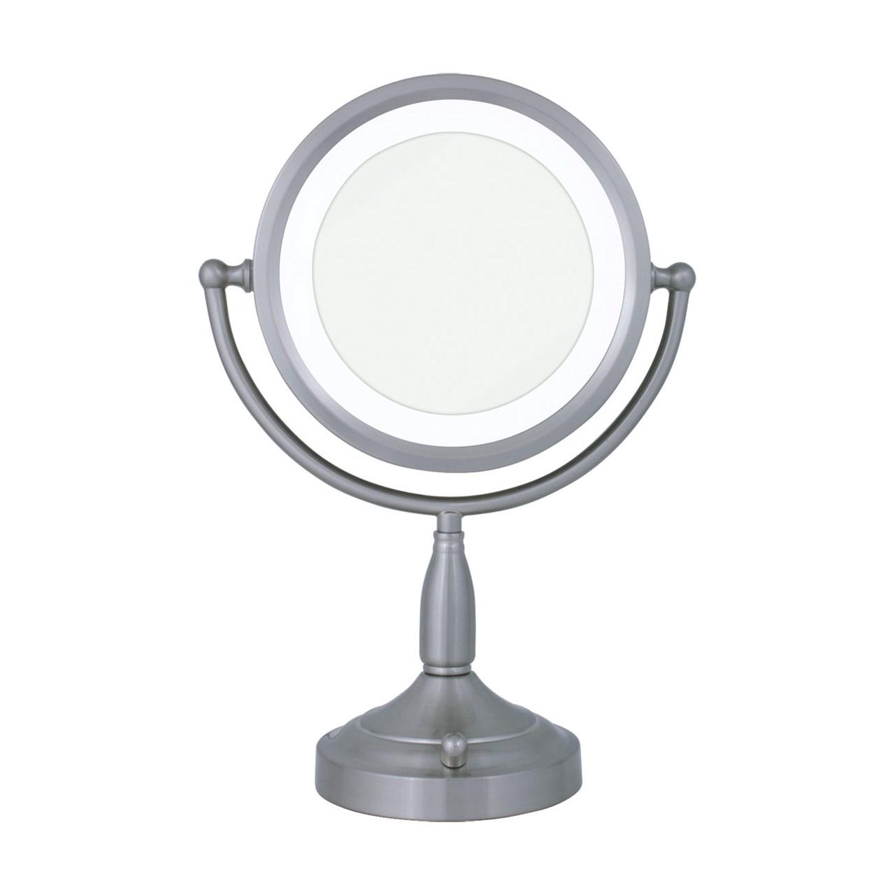 Maxiaids Lighted Round Vanity Mirror 8x 1x