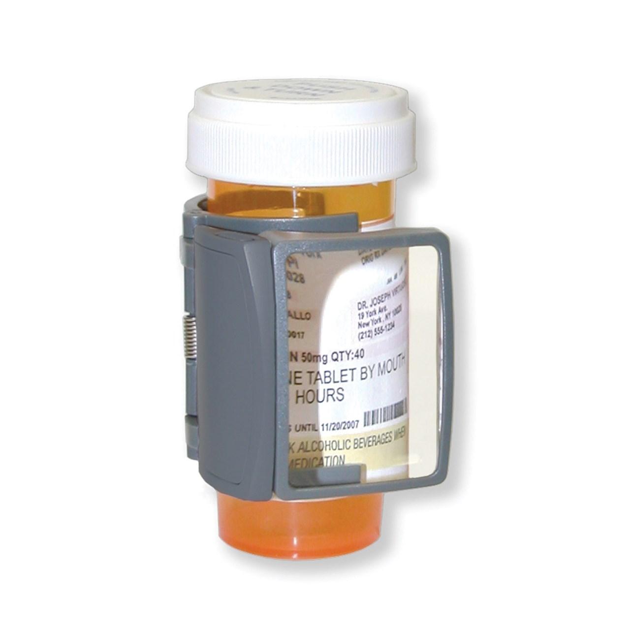 Medicine: MagRX LED Lighted Medicine Bottle Magnifier- 3x