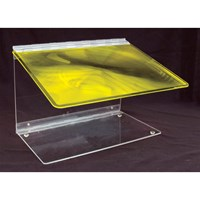 Reizen Fold-A-Mag 2x Folding Portable Page Magnifier- Yellow