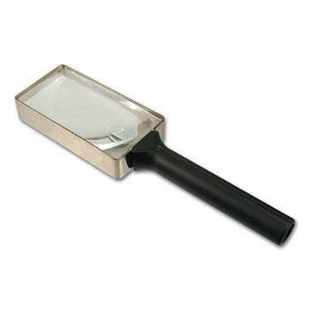 Schweizer Optik Rectangular Hand Magnifier 2.5x 6-Diopter