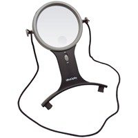 UltraOptix Lighted Hands-Free Magnifier- 2.5x with 6x Bifocal
