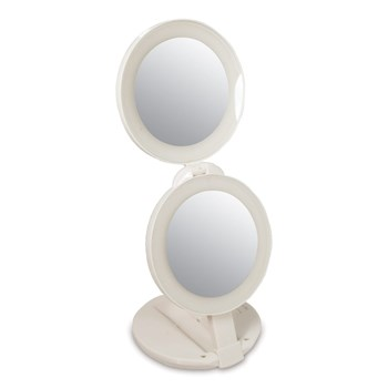 Zadro LED Lighted 10x-1x Travel Mirror