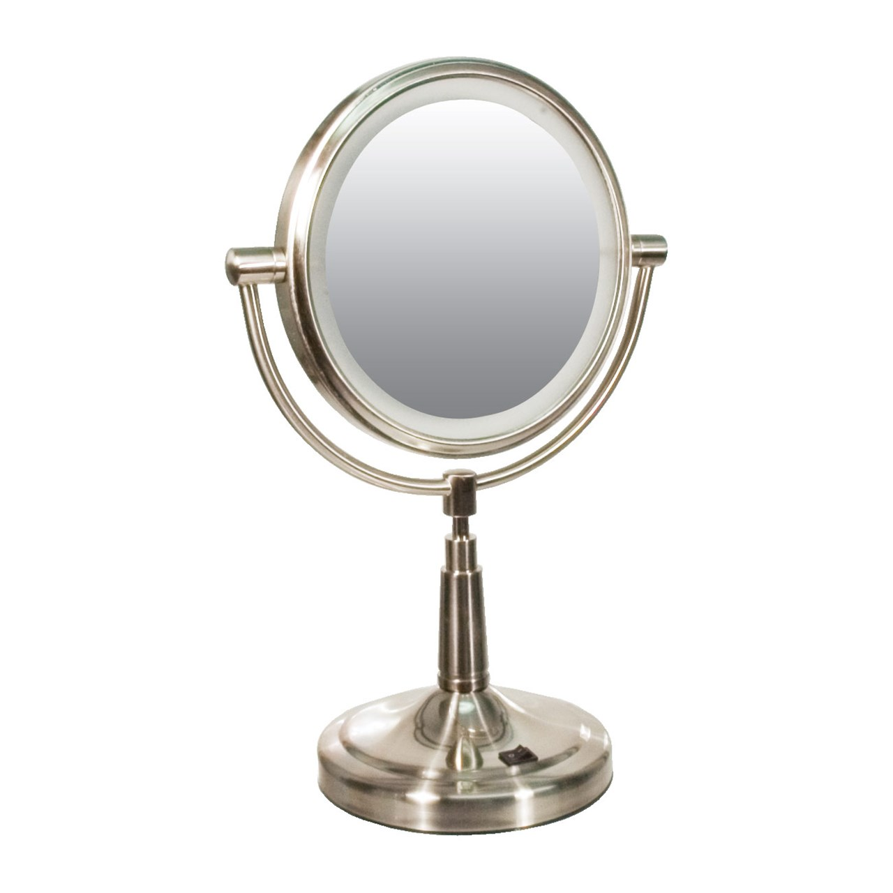 Zadro Lighted Makeup Mirror.Zadro Cordless Led Lighted 5x 1x Vanity Mirror Round