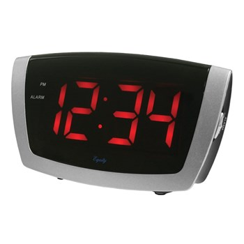 Digital Alarm Clock with 1.8-inch Jumbo LED