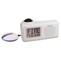 Lifetone HL Bedside Fire Alarm and Clock