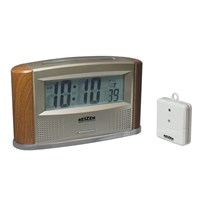 Picture of Reizen Atomic Talking Clock with Indoor-Outdoor Therm