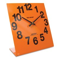 Reizen Giant View Clock- Orange Face