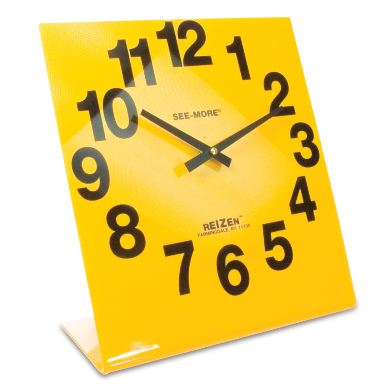 MaxiAids | Reizen Giant View Clock- Yellow Face