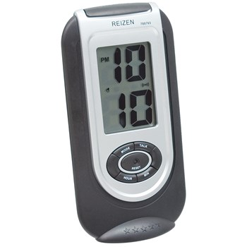 Reizen LCD Talking Alarm Clock- Rectangular