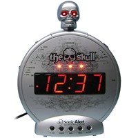 Skull with Bone Crusher Amplified Alarm-Bed Shaker