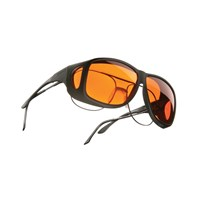 Cocoons Low Vision Aviator XL OveRx Eyewear-Blk-Orange
