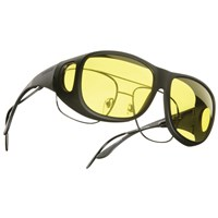Cocoons Low Vision OveRx Eyewear Pilot Black-Lemon