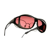 Cocoons Low Vision Pilot L Sunglasses-Black-Boysenberry