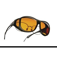 Cocoons Low Vision Pilot L Sunglasses-Black-Hazelnut