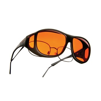 Cocoons Low Vision Pilot L Sunglasses-Black-Orange