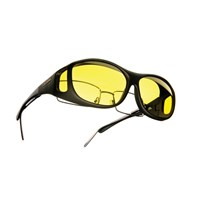 Cocoons Low Vision Slim Line M Sunglasses-Black-Lemon