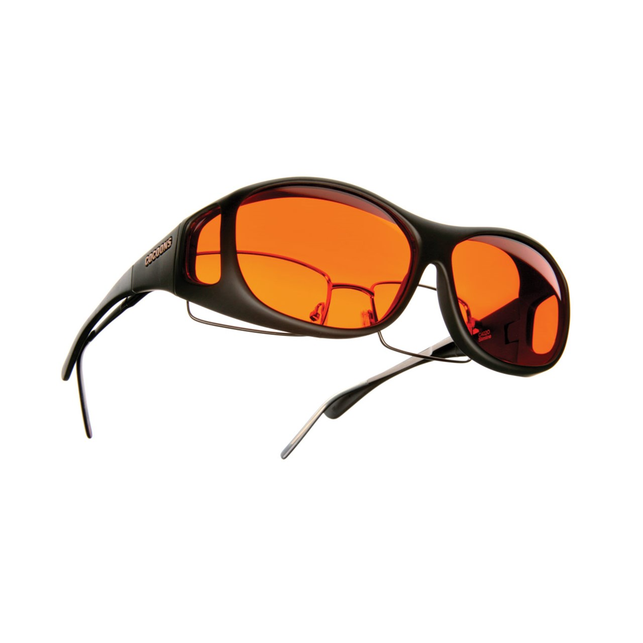 4b18feb332 Cocoons Low Vision Slim Line M Sunglasses-Black-Orange ...