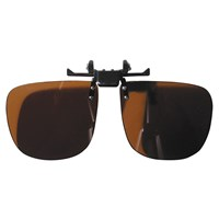 Noir Large Flip-Up Clip On Uv & Infrared 10 Percent Med Amber