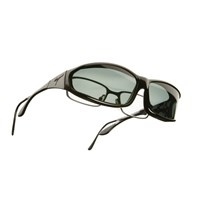 Vistana OveRx Sunglasses Size MS Soft Touch Black Frame - Gray Lenses