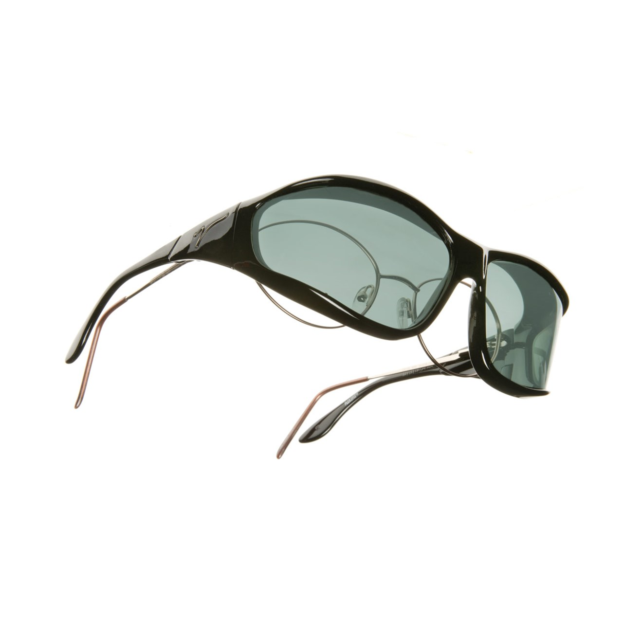 f4266f26d44d MaxiAids   Vistana Polarized Sunwear - Black Frame with Gray Lens- Size  Large