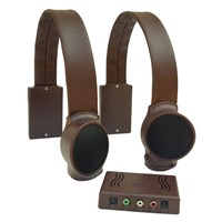 Wireless TV Listening Speakers - Dark Brown