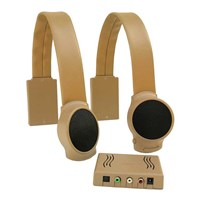 Wireless TV Listening Speakers - Tan